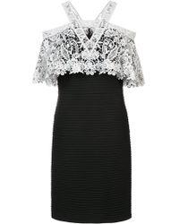 Tadashi Shoji - Crochet Top Layered Dress - Lyst