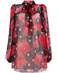 Dolce & Gabbana - Printed Blouse - Lyst