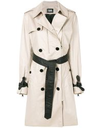 Karl Lagerfeld - Ikonik Trench Coat - Lyst