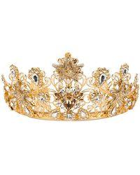 Dolce & Gabbana - Embellished Crown - Lyst