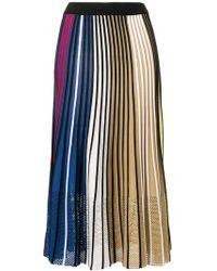 41522b39ea KENZO - Striped Knitted Skirt - Lyst