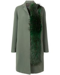 Gianluca Capannolo - Fox Fur Detail Coat - Lyst