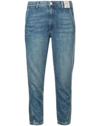 AMO - Slouch Cropped Jeans - Lyst
