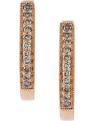 Wouters & Hendrix - Champagne Diamond Hoop Earrings - Lyst