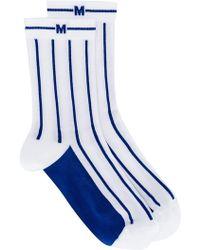 MSGM - Stripe Knit Socks - Lyst