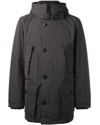 Woolrich - Hooded Buttoned Jacket - Lyst