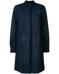 PS by Paul Smith - Pleated Shirt Dress - Lyst