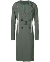Rick Owens - Double Breasted Trench Coat - Lyst