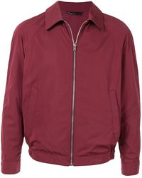 Gieves & Hawkes - Zipped Bomber Jacket - Lyst