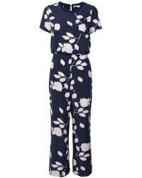 P.A.R.O.S.H. - Floral Print Jumpsuit - Lyst