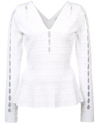 Narciso Rodriguez - Perforated Sleeves Jumper - Lyst