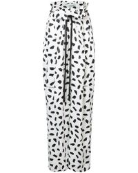 Off-White c/o Virgil Abloh - Printed Wide-leg Trousers - Lyst