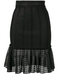 Alexander McQueen - Sheer Panel Skirt - Lyst