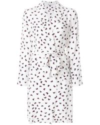 P.A.R.O.S.H. - Butterfly Print Wrap Dress - Lyst