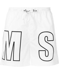 MSGM - Branded Swimming Shorts - Lyst