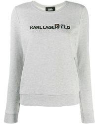 Karl Lagerfeld - Contrast Logo Jumper - Lyst