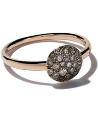Pomellato - 18kt Rose Gold Small Sabbia Brown Diamond Ring - Lyst