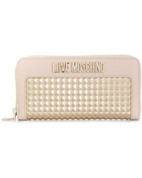 Love Moschino Logo Studded Wallet