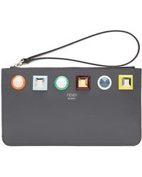 Fendi - Flat Clutch With Studs - Lyst