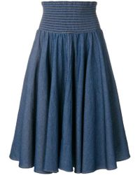 Julien David - High Waisted Flared Skirt - Lyst