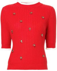 MUVEIL - Cherry Charmed Sweater - Lyst