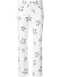 Être Cécile - Straight Star Print Jeans - Lyst