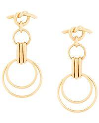 Eshvi - Hula Hoops Earrings - Lyst