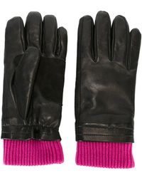 AMI - Leather Gloves - Lyst