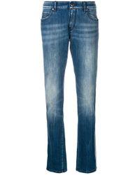 Jacob Cohen - Side Stripe Straight Jeans - Lyst