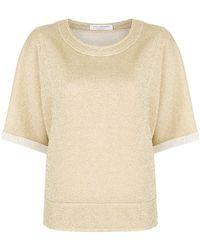Philosophy Di Lorenzo Serafini - Lurex Half Sleeve Sweatshirt - Lyst
