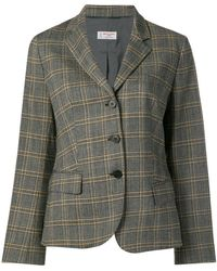 Alberto Biani - Checked Tailored Blazer - Lyst