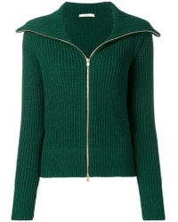 ODEEH - Zipped Knitted Cardigan - Lyst