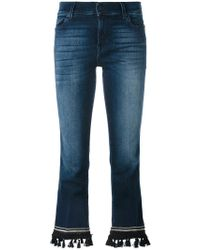 7 For All Mankind - Bootcut Cropped Jeans - Lyst