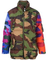 Moschino | Padded Camouflage Coat | Lyst