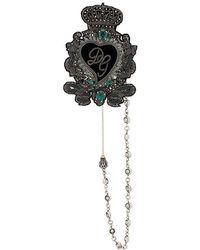 Dolce & Gabbana - Broche à logo - Lyst