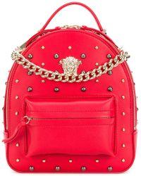 Versace - Studded Medusa Backpack - Lyst
