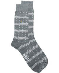 Vivienne Westwood - Polka Dots And Stripes Socks - Lyst