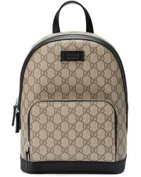 28f143e80e2f Gucci Flora Snake Print Backpack in Green - Lyst