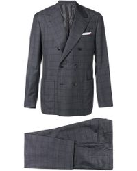 Kiton - Double Breasted Two Piece Suit - Lyst