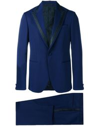 Versace Single Breasted Jacquard Detailed Suit