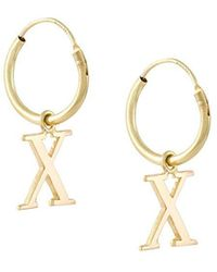 Wouters & Hendrix - 18kt Yellow Gold 'x' Earrings - Lyst
