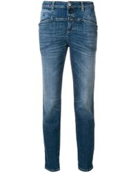 Closed - Cropped Straight Leg Jeans - Lyst