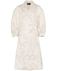 Simone Rocha - Leaf Embroidered Cotton Coat - Lyst