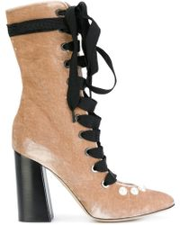 Blugirl Blumarine | Lace Up Ribbon Boots | Lyst