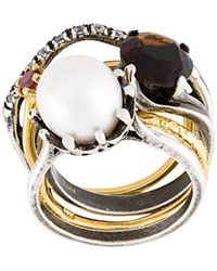 Iosselliani - Set Of 5 Rings - Lyst