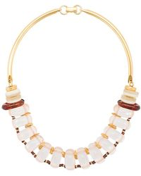 Lizzie Fortunato | Modern Arc Necklace | Lyst