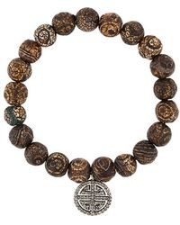 Monan - Beaded Diamond Charm Bracelet - Lyst