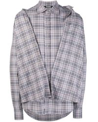 Moohong - 'second Skin' Checked Shirt - Lyst
