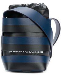 Paco Rabanne - Striped Bucket Shoulder Bag - Lyst
