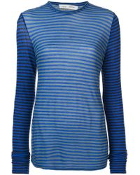 Proenza Schouler - Pswl Striped Jersey Top - Lyst